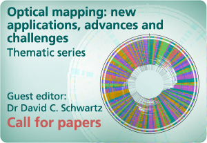 Optical mapping: new applications, advances and challenges -- call for papers