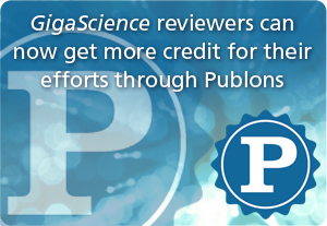 GigaScience reviewers can gain credits through Publons