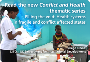 Conflict and Health: Filling the void -- new thematic series