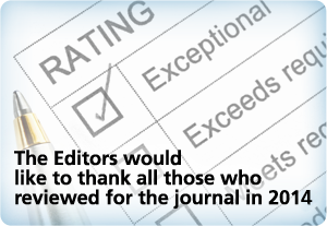 Editors thank those reviewing manuscripts in 2014