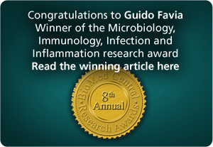 Congratulations to Guido Favia -- Winner of Microbiology, Immunology, Infection and Inflammation research award